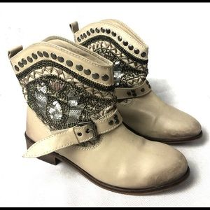 Naughty monkey ankle cowboy booties detailed
